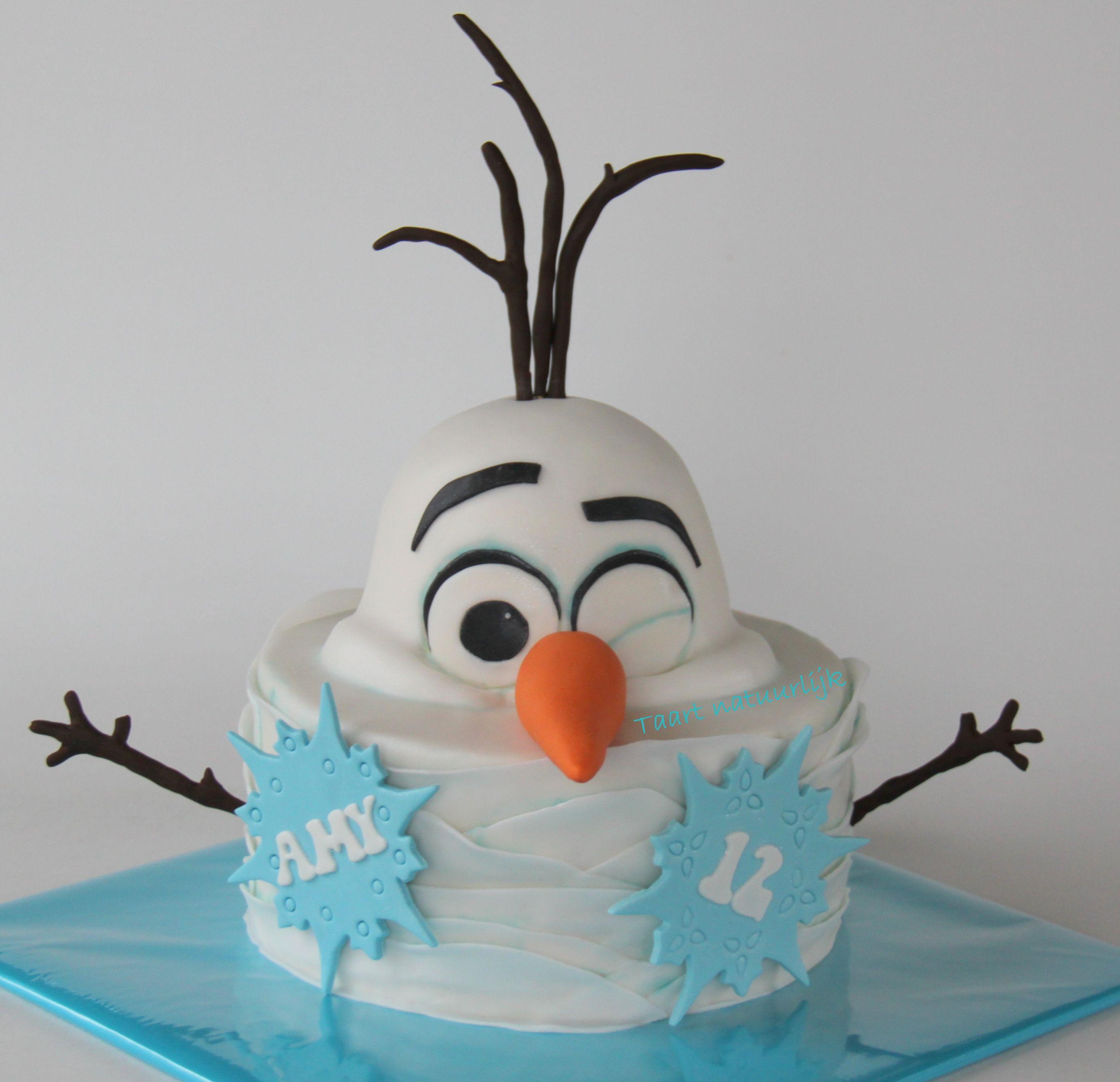 Wondrous Taart Kiekeboe Frozen Cake Olaf Ingesneeuwd Snowed Under Peek A Birthday Cards Printable Inklcafe Filternl