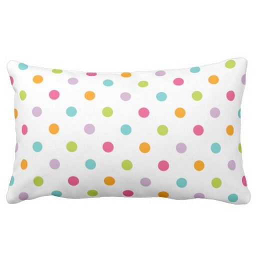 Cute Girly Colorful Polka Dots Throw Pillows