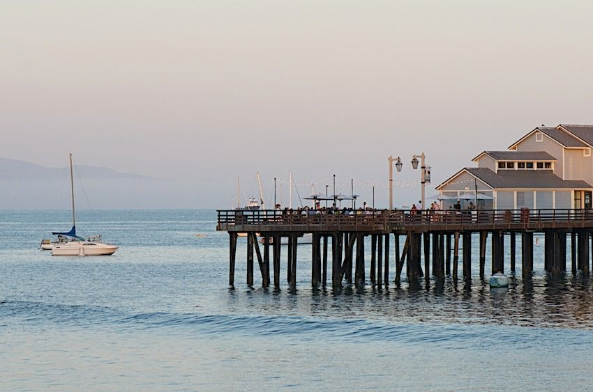 blue hour at the Pacific coast of Santa Barbara