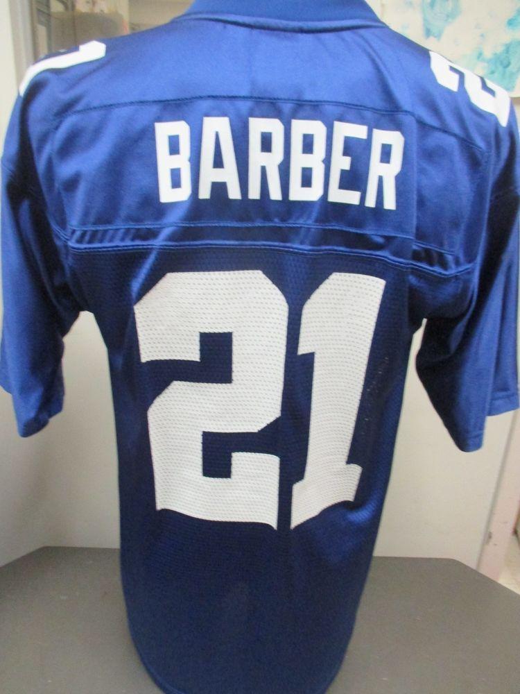 4871b9e16 NFL Reebok On Field New York Giants Blue #21 Tiki Barber Jersey Medium # Reebok #NewYorkGiants