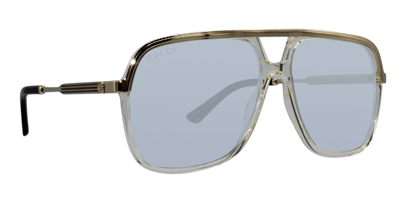 e307d8a8a1587 Gucci - GG0200S Gold Clear - Clear-sunglasses-Designer Eyes ...