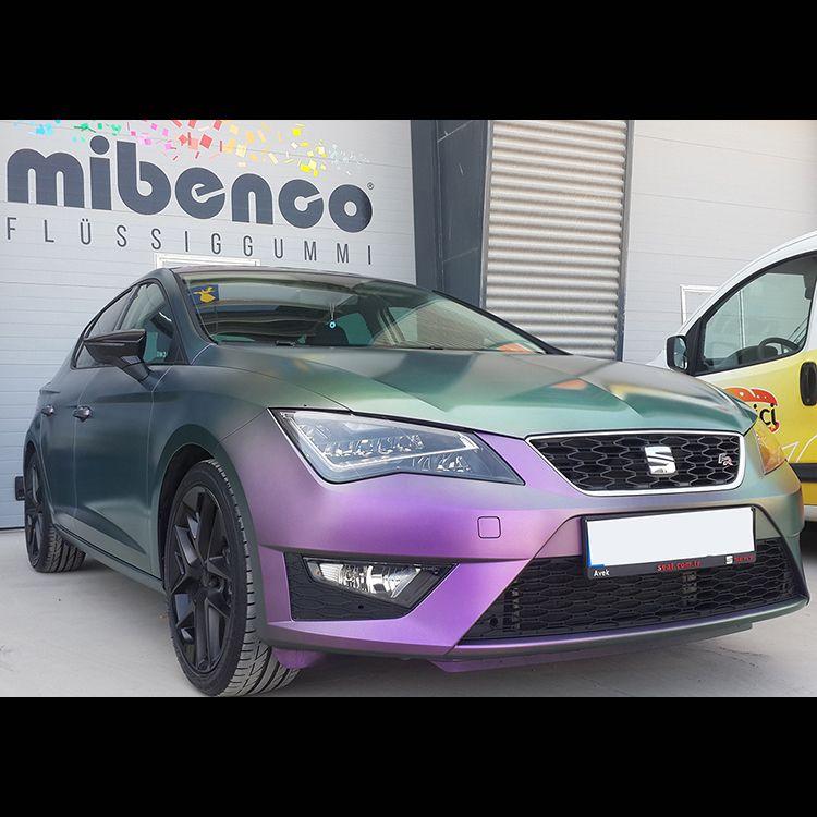 Seat Leon FR gedippt mit mibenco EFFEKTPIGMENT, Tesla