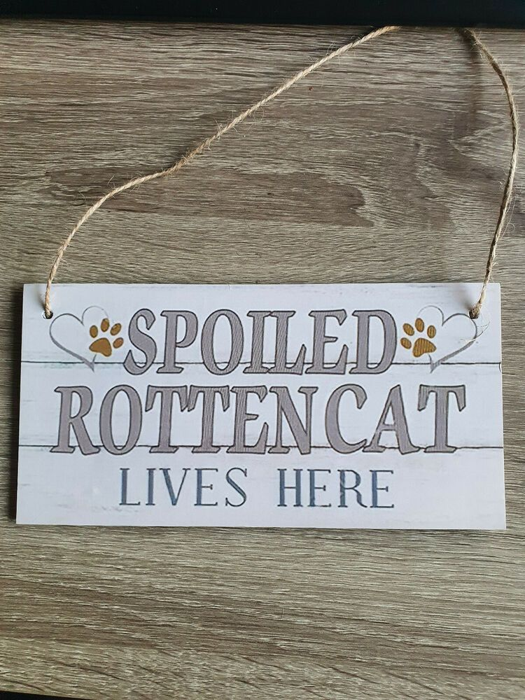 Spoiled Rabbit Lives here Wooden hanging plaque heart sign