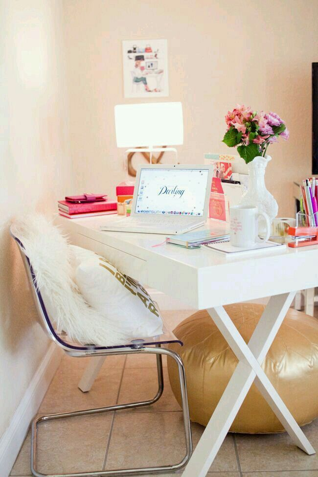 Girly Desks little and girly workplace | interieur and rooms | pinterest