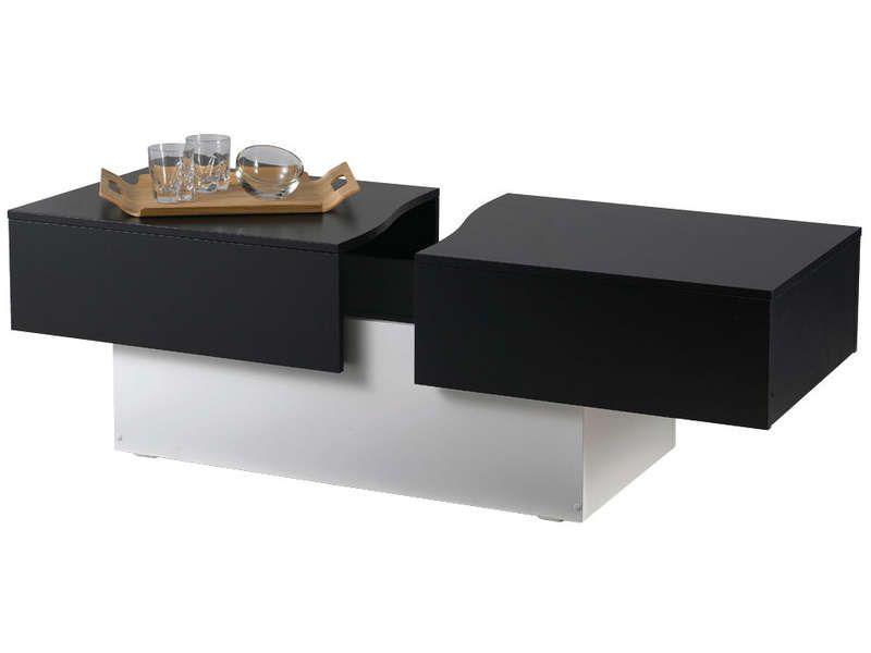 table basse conforama noir et blanc