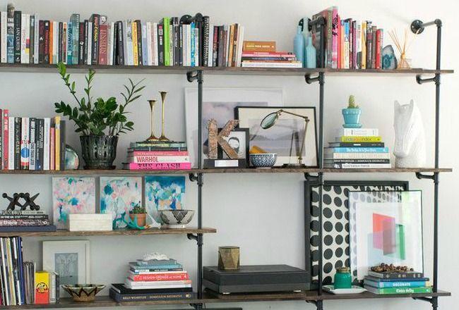Ranger ses livres d co salon cuisine pinterest deco rangement ranger et idee deco for Idee rangement salon