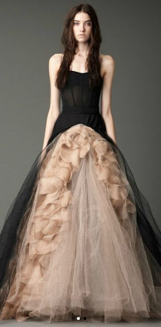 Black and taupe wedding gown Joelle by Vera Wang. thanks vera wang ...