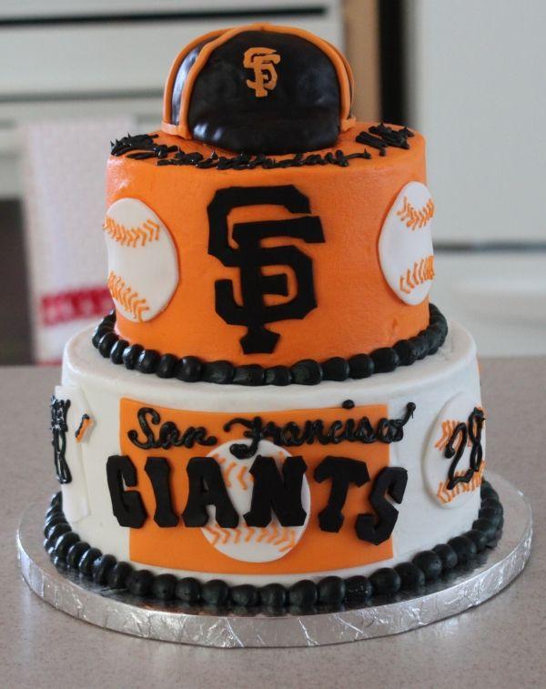 Astonishing San Francisco Giants Birthday Cake San Francisco Giants Cake Personalised Birthday Cards Cominlily Jamesorg