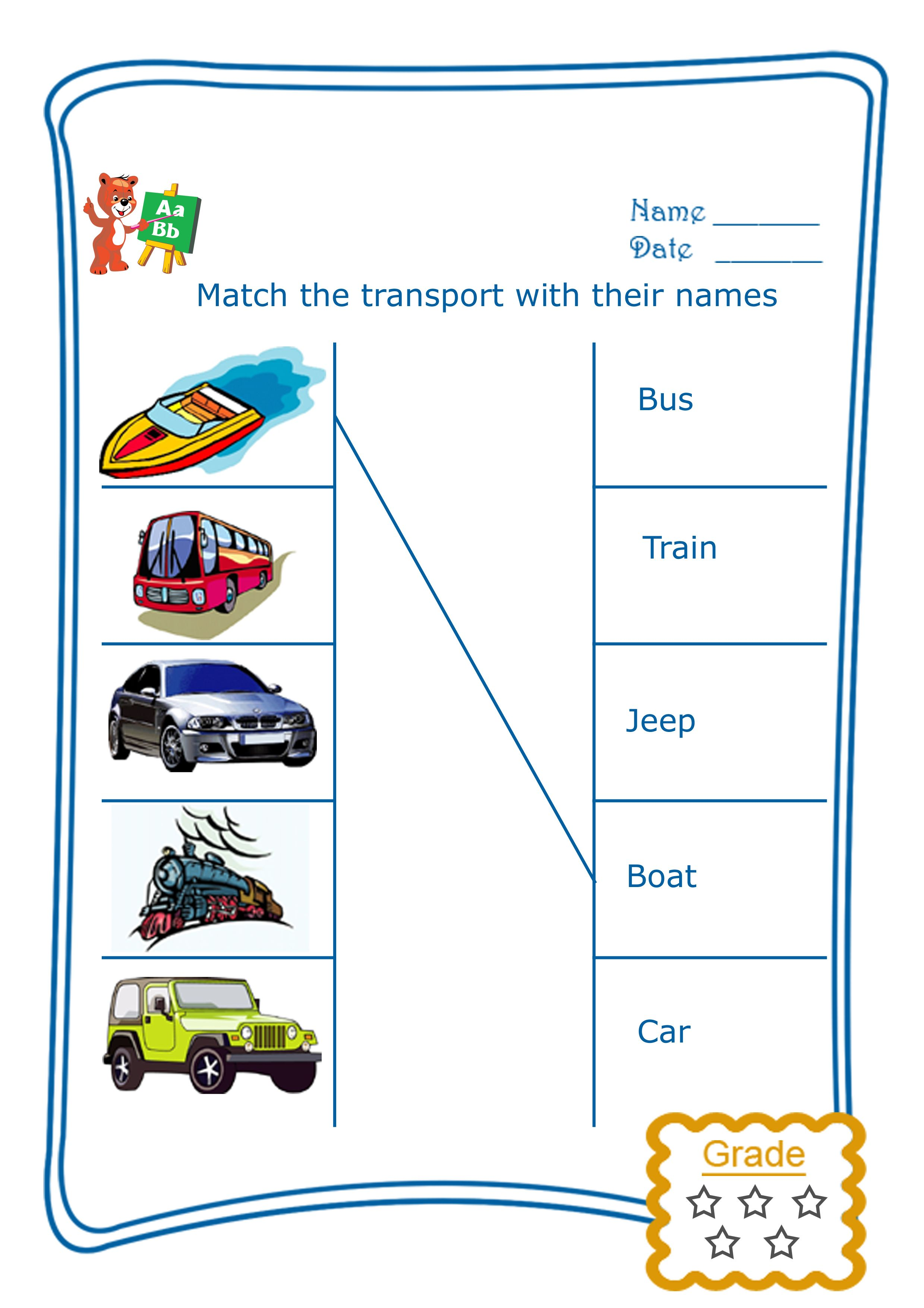 Match The Transport Name Match The Transport Name This