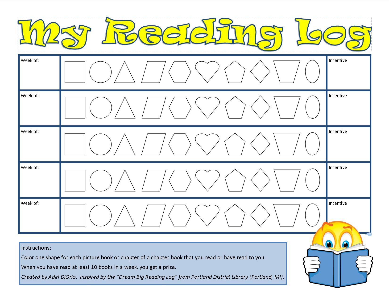 We Loved The Reading Log From Portland District Library So