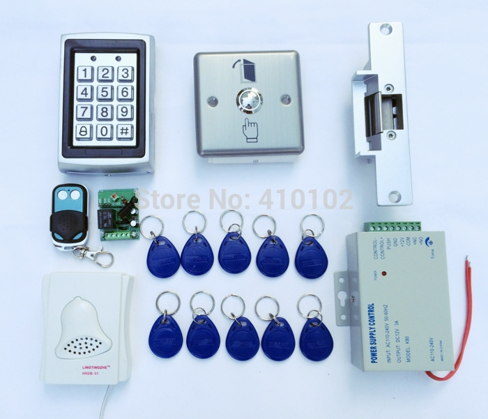 69.66$  Buy now - http://ali3rf.worldwells.pw/go.php?t=1731624708 - Full Complete Access Control Kit System  Electric Strike Door Lock +110~240V Power Supply + Exit Button+10 RFID Card Tag 69.66$