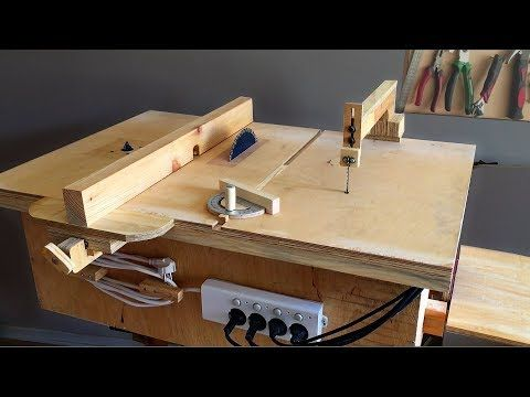 Incredible Woodworking » Homemade 4 in 1 Workshop (table saw, router table, disc sander jigsaw table) 4 in 1Çalışma İstasyonu #homemadetools