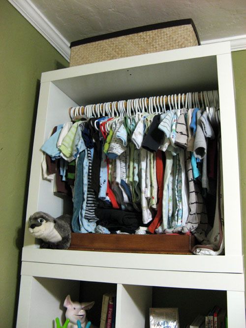 Expedit Baby Closet (idea For Hanging Clothes In Boys Room.) Exactly What I