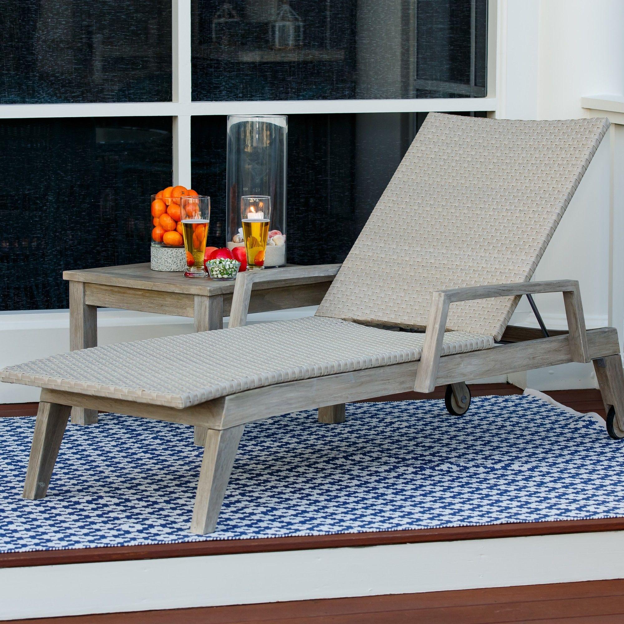 Summit Sun Reclining Teak Chaise Lounge