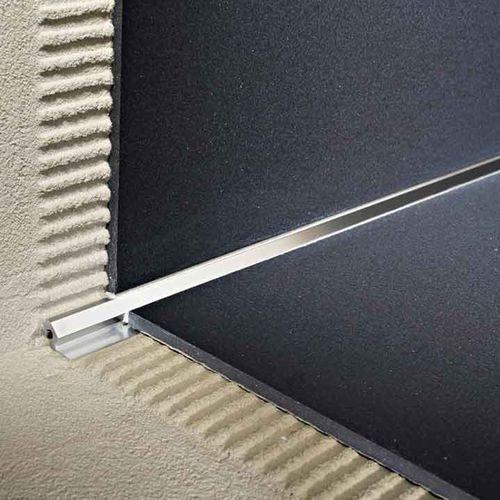 Aluminum Edge Trim For Tiles Inside Corner Mosaictec Crm Profilitec Tiles Tile Trim Wall Coverings