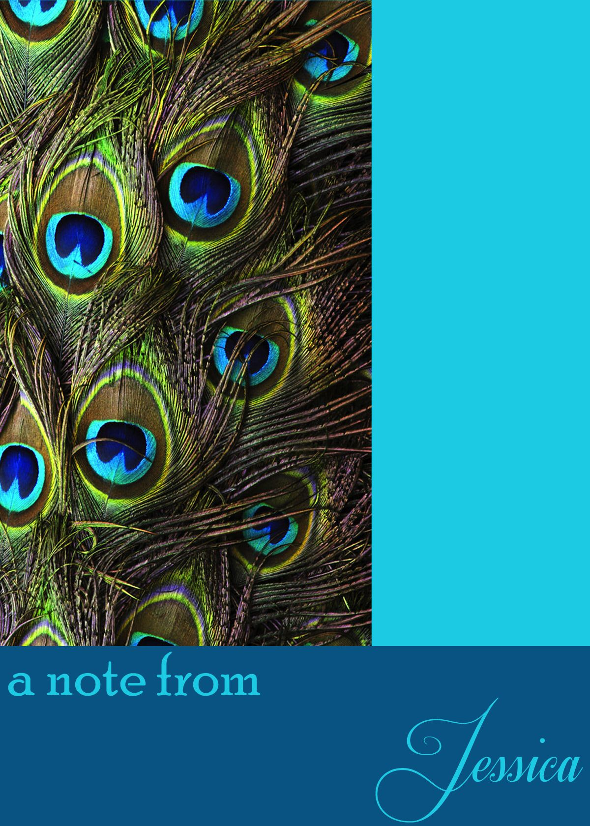 Personalized peacock note card angels designs pinterest note