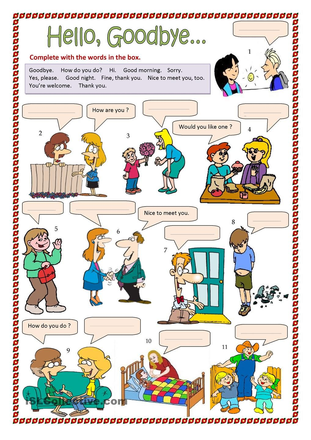 Hello goodbyeetc and other worksheets great resource social thinking kristyandbryce Gallery