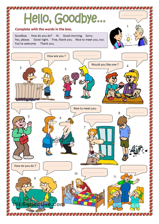 Hello Goodbye Etc Aprender Ingles Para Niños Juegos