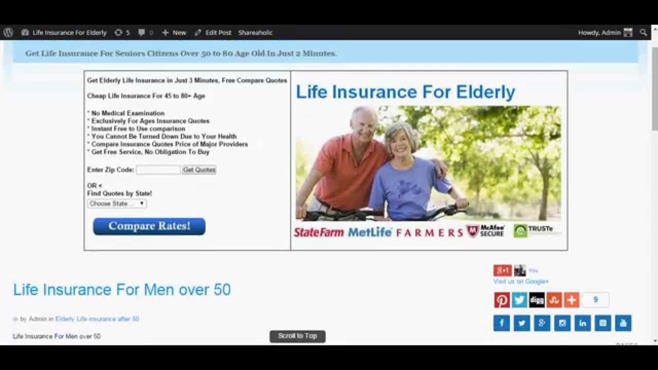 Life Insurance Over 50 Quotes Life Insurance For Men Over 50  Life Insurance For Men Over 50