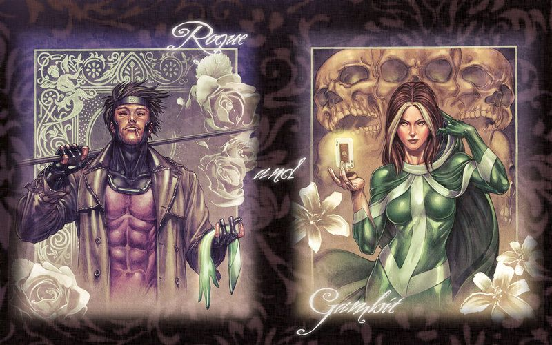 Rogue + Gambit Wallpaper by ~new-moon-night on deviantART