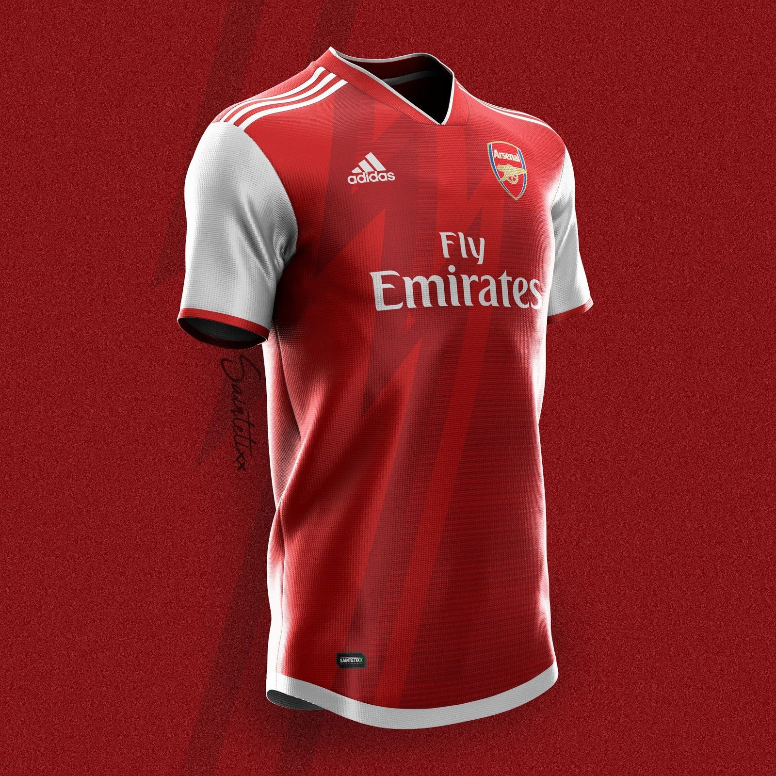 Adidas Arsenal 19 20 Home Away Third Kit Concepts By Saintetixx Footy Headlines Arsenal Jersey Sports Jersey Design Arsenal Kit
