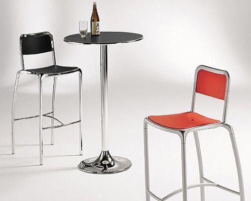 Sgabello alù realizzato in aluminio per l arredo bar ideale per