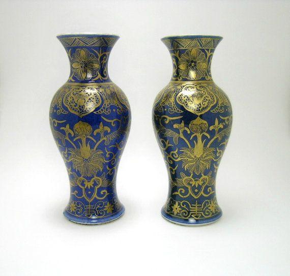 Kangxi Powder Blue Chinese Porcelain Pair by MinistryOfArtifacts