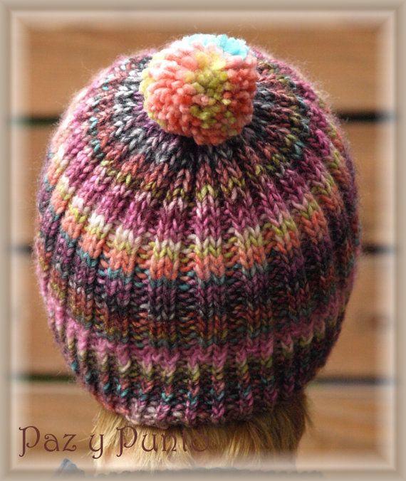 Gorro de lana por Pazypunto en Etsy   Gorritos   Pinterest   Lana ...