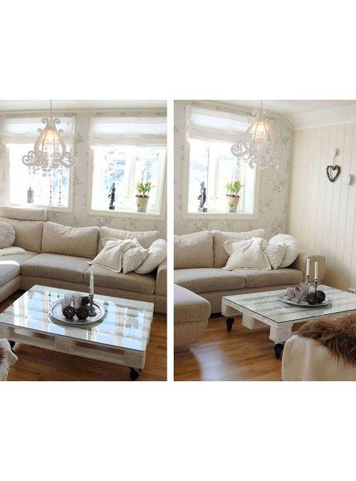 Tavolino white pallet epal con vetro acquista online for Arredamento made in china