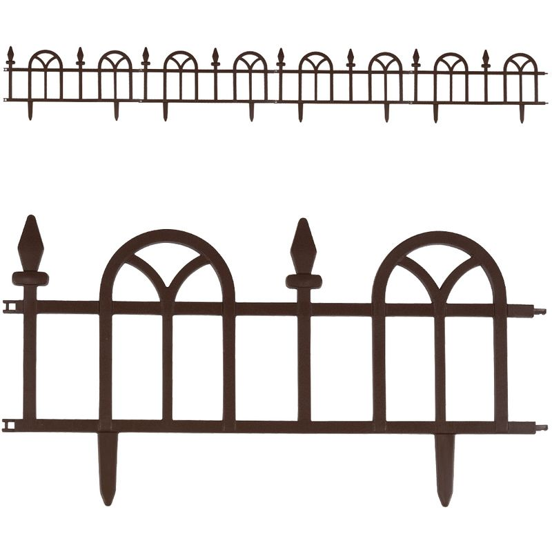 En stock set de 4 bordures de jardin brun d limitation - Bordure de jardin pas cher ...