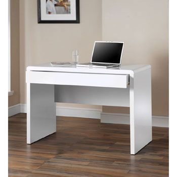 Dams Luxor High Gloss White Office Desk 130 For My Office
