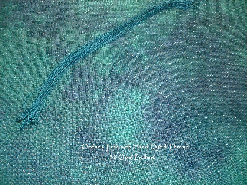 Oceans Tide Hand Dyed Fabrics and Thread    StephsFabbys com   Cross