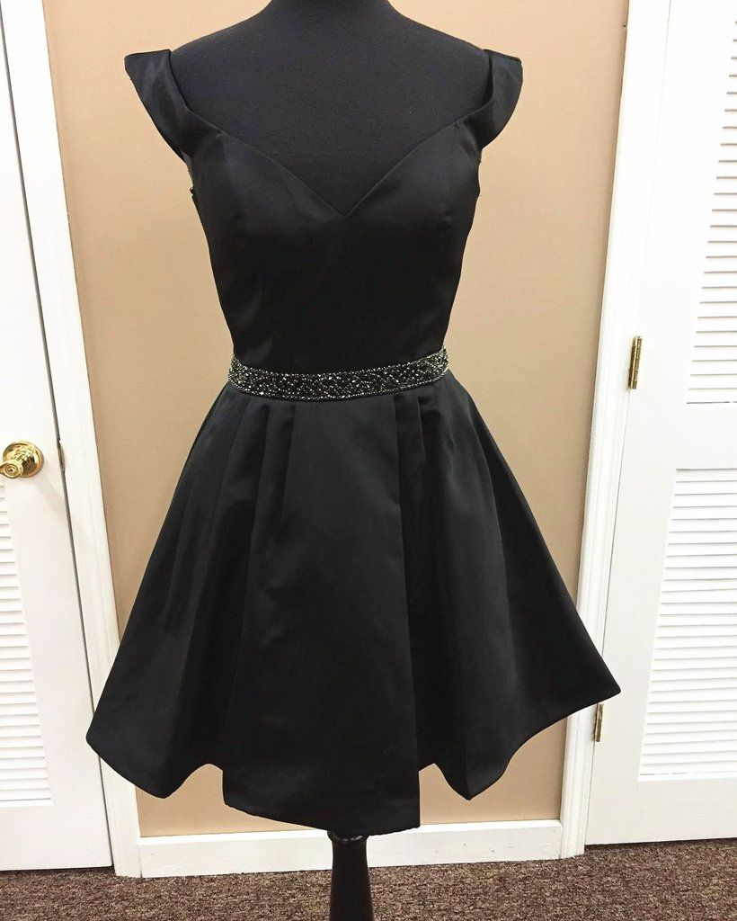 Black homecoming dressshort prom dressshort party dresscute prom