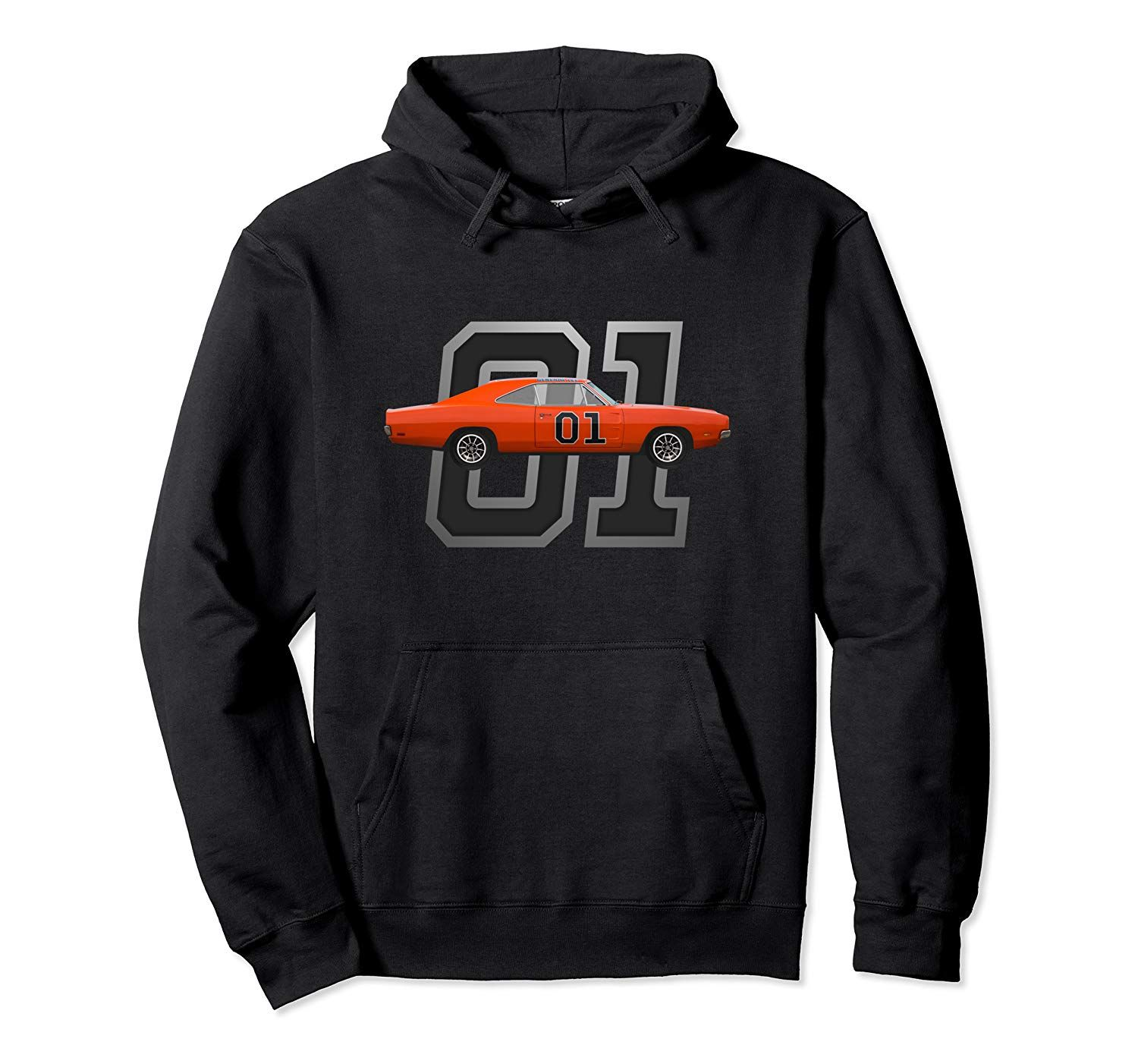 Classic Car 1969 Dodge General Charger Dukes Lee Pullover Hoodie
