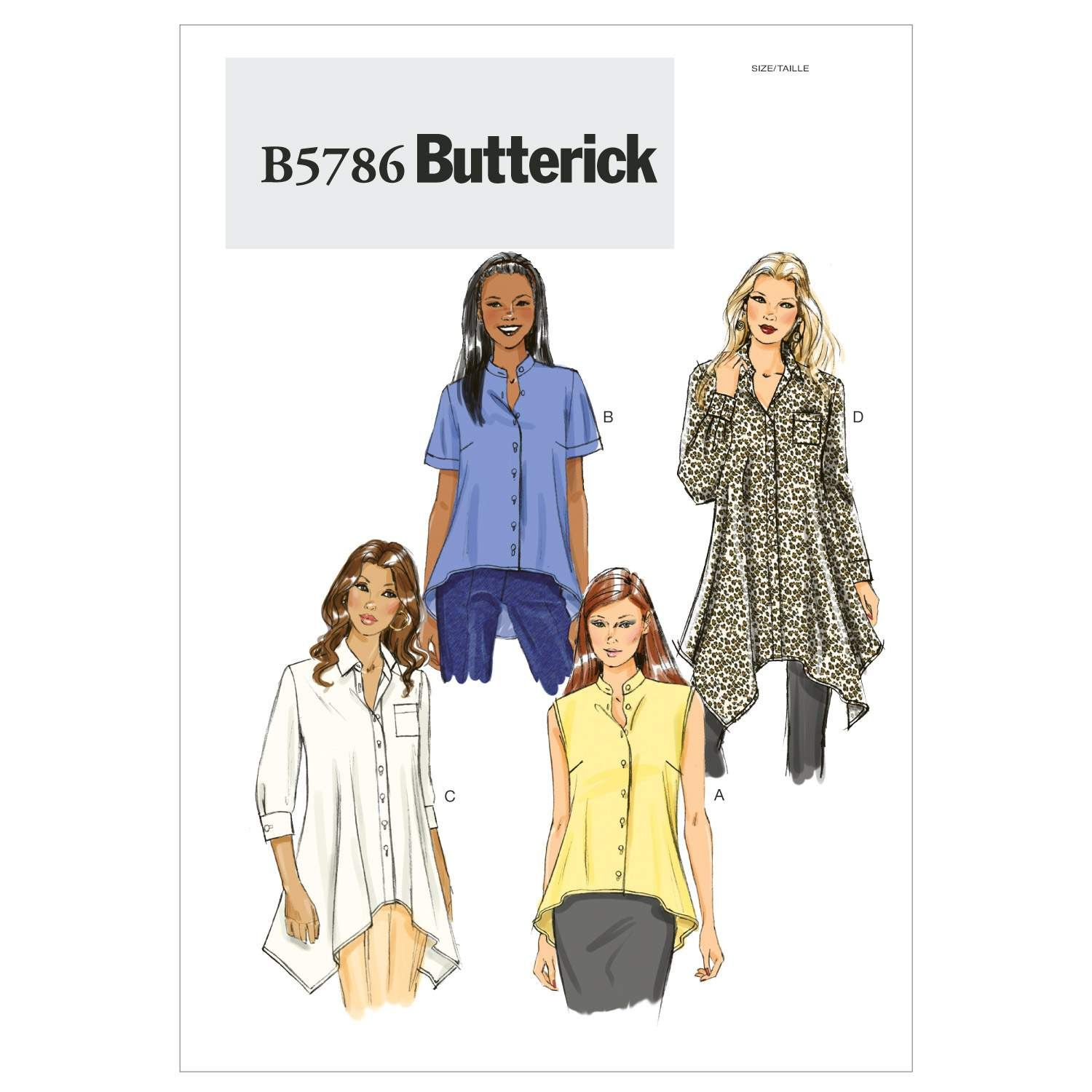 Mccall Pattern B5786 F5 (16-18--Butterick Pattern | Sewing ideas ...