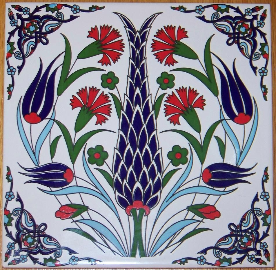 Turkish tile art google search art ceramic tile art turkish ottoman ceramic iznik tile hot plate trivet in pottery glass pottery china art pottery other art pottery dailygadgetfo Gallery