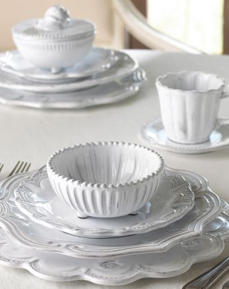 #vietri white #dinnerware with a rustic yet elegant italian appeal~ simply gorgeous. & vietri white #dinnerware with a rustic yet elegant italian appeal ...