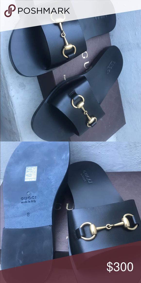 759197a97 Gucci men black sandals Never worn before. Includes box Gucci Shoes Sandals    Flip-Flops