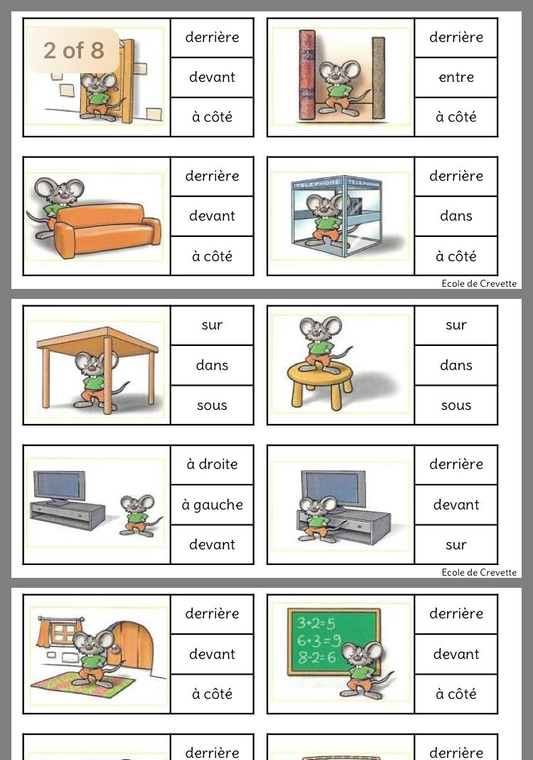 Les prépositions   Cours de français, Apprendre le français, Orthopédagogie