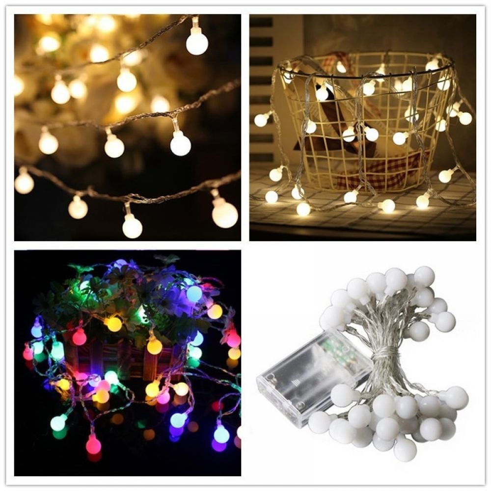 1m 3m Ball Christmas Tree Lights Ornament In 2020 Lighted Ornaments Christmas Tree Merry Christmas Decoration
