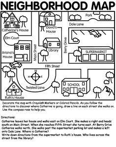 Crayola.com has cute printables. Love this neighborhood map for ...