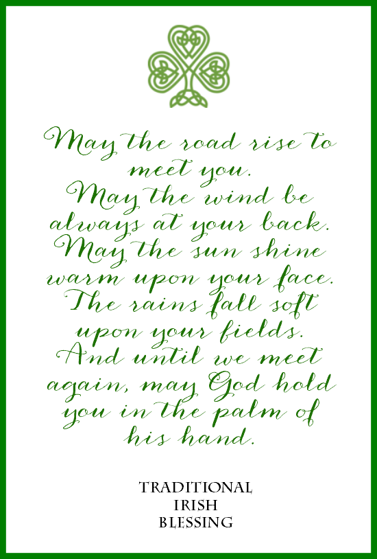 picture relating to Printable Irish Blessing referred to as Irish Blessing Totally free Printables for St. Patricks Working day: 3