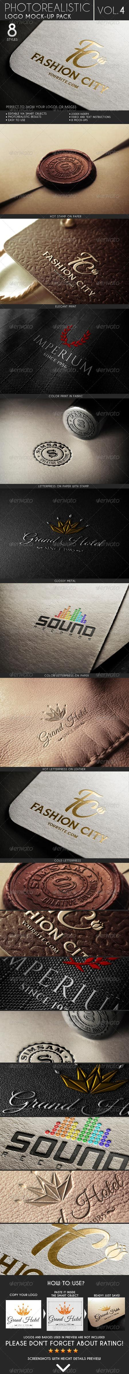 Photorealistic Logo Mock-Up Pack Vol 4 6879129 | psd keys