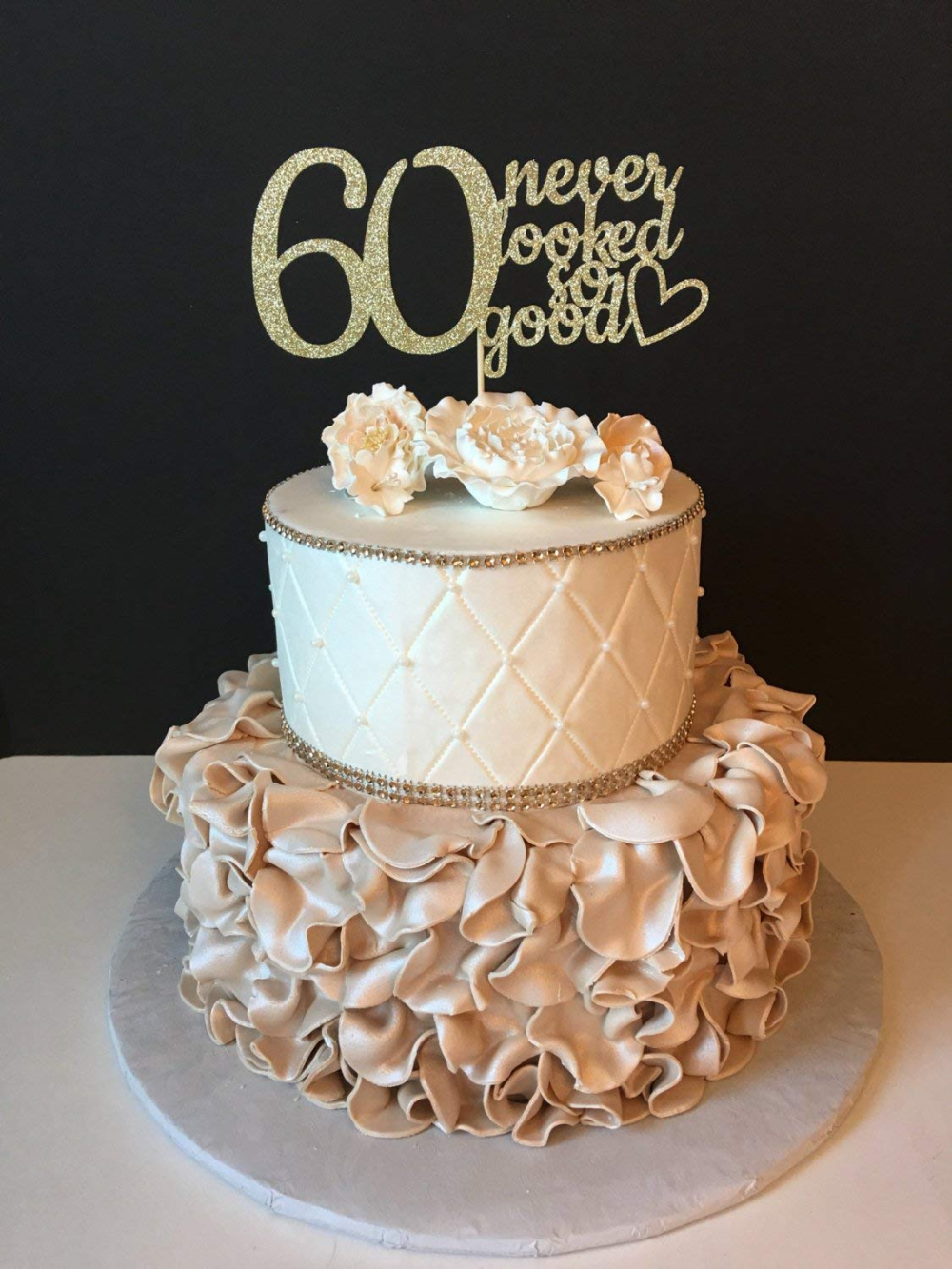 Any Number Gold Glitter 60Th Birthday 60 Never Looked So