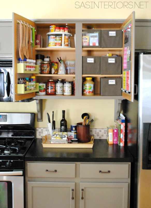 15 Clever Ways To Get Rid Of Kitchen Counter Clutter Glue Sticks And Gumdrops Kitchen Counter Organization Kitchen Countertop Organization Small Kitchen Counter