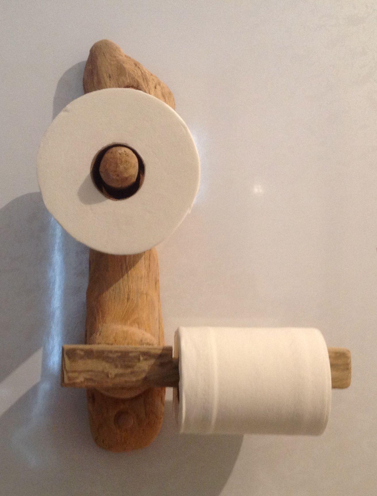 Driftwood Toilet Roll Holder Moveis De Madeira Feitos A Mao Suportes De Papel Ideias Para Casas De Banho