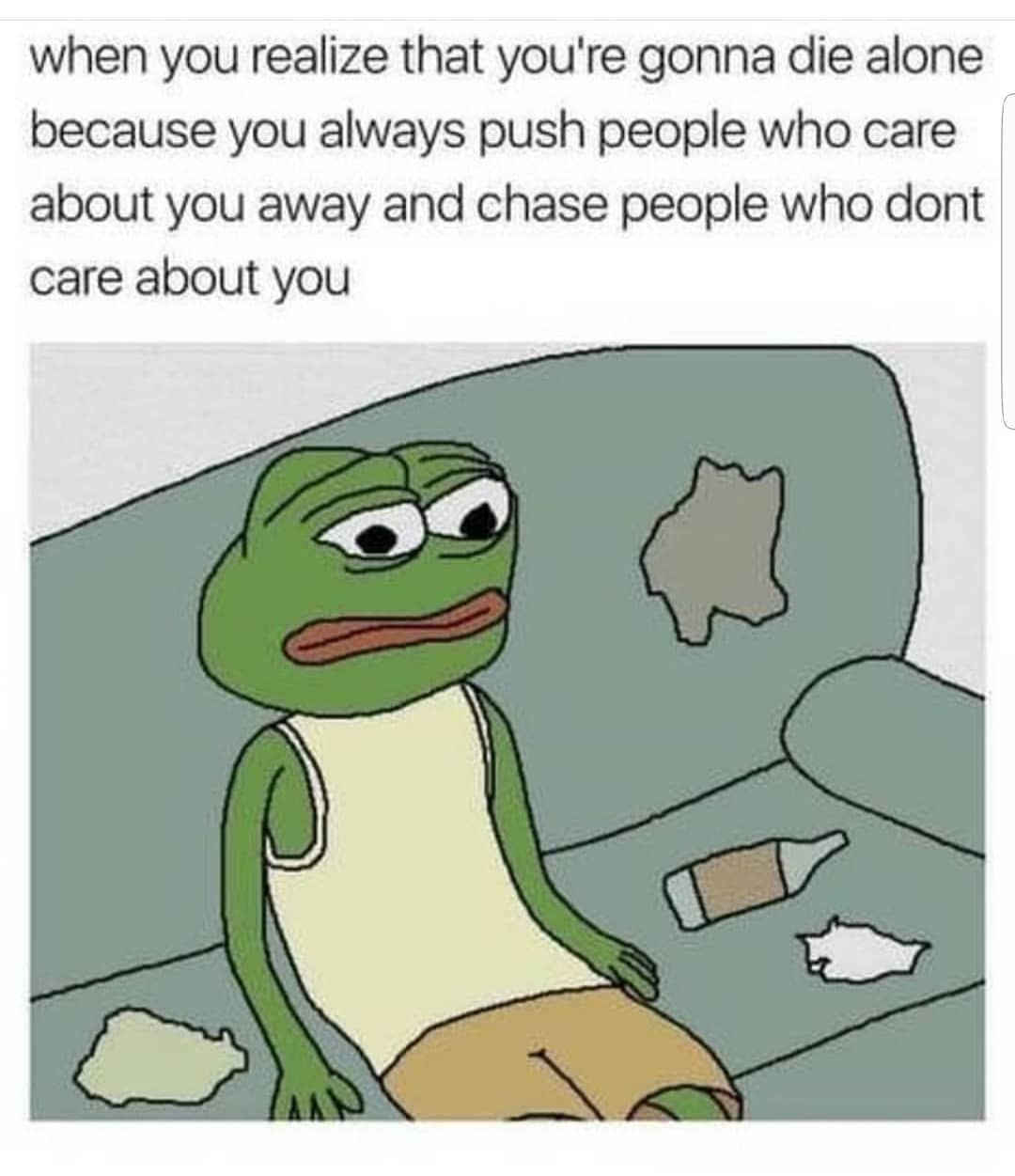 Lonelysadmeme On Instagram Can T Relate Nobody Care Sadmemes Depressionmemes Anxietymemes Relatablememes Nobody Cares Quotes Memes Sweet Love Text