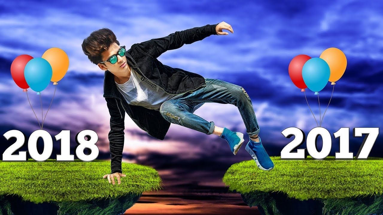 Happy New Year 2018 Editing In Picsart Cb Edits Background Cb