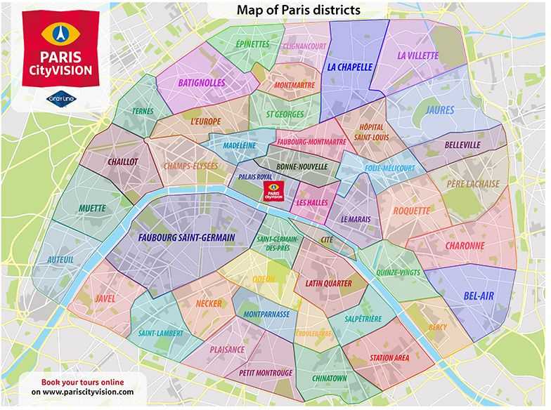 Map Of Paris Neighborhoods Paris District Paris Neighborhoods