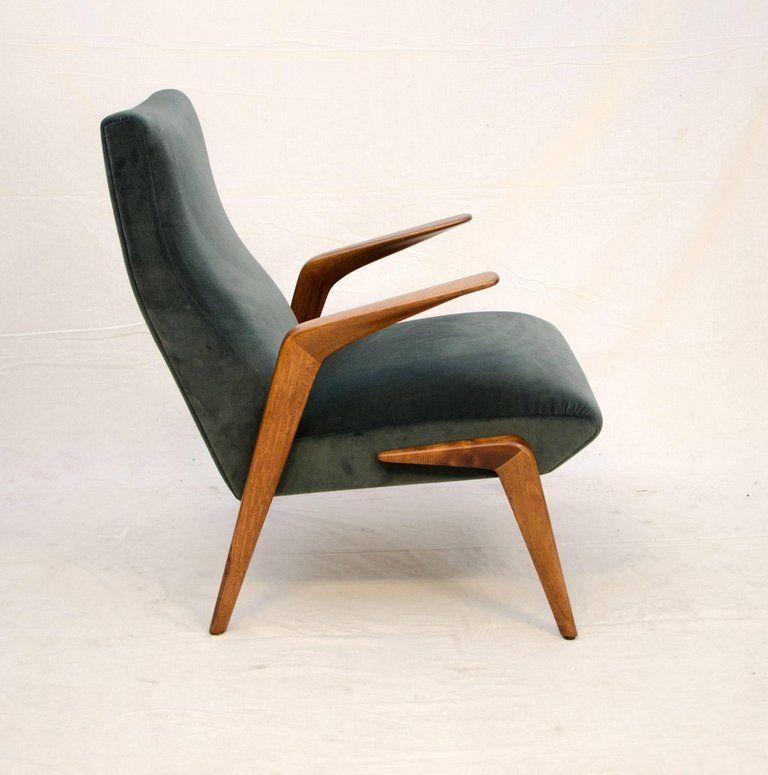Mid Century Modern Italian Lounge Chair D71 Osvaldo Borsani For
